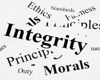 Ethics integrity morals