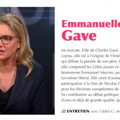 Lettre de coeur d'Emmanuelle Gave, directrice de l'Institut des Libertés